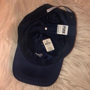 PINK Victoria's Secret Accessories - VS PINK navy blue satin baseball hat